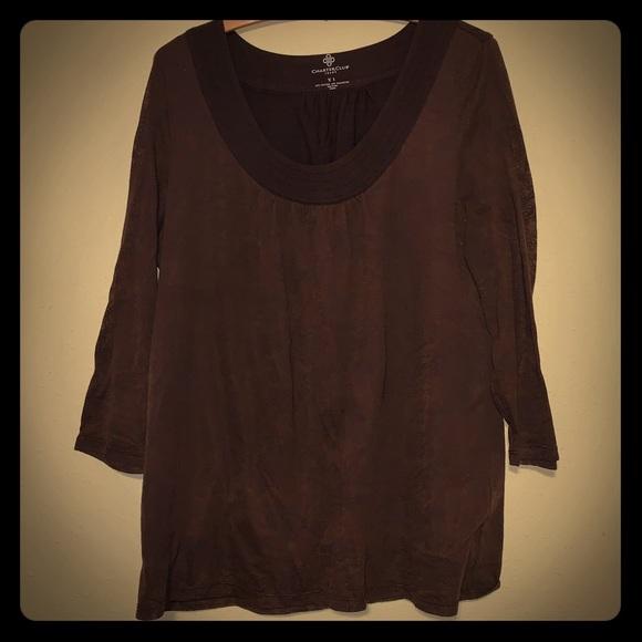 Charter Club Tops - Scoop neck 3/4 sleeve shirt